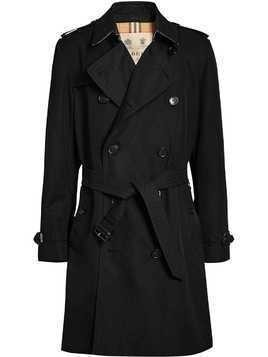 Burberry The Kensington Heritage Trench Coat - Black