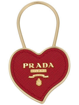Prada heart keyring - Red