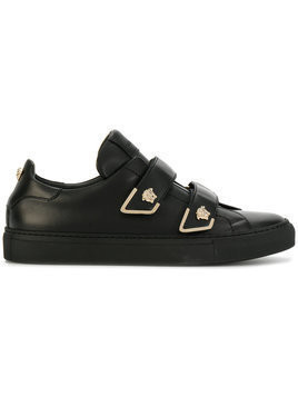 Versace - Medusa touch strap sneakers - Damen - Leather/rubber - 38 - Black