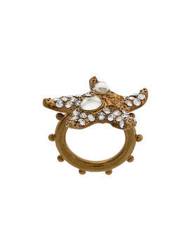 Versace embellished starfish ring - Metallic