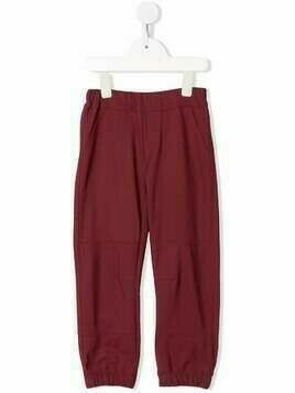Il Gufo elasticated waistband trousers - Red