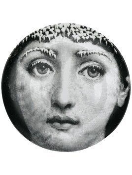 Fornasetti decorative wall plate - Black