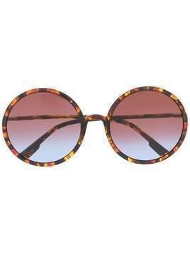 Dior Eyewear round gradient-lens sunglasses - Yellow