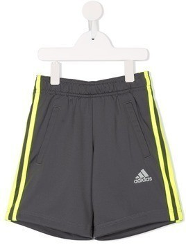 Adidas Kids Football 3-Stripes shorts - Grey