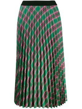 Moncler plaid pleated skirt - Green