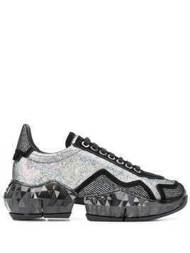 Jimmy Choo Diamond low-top sneakers - Black