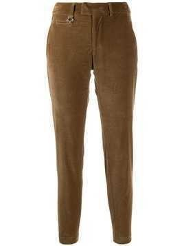 Lorena Antoniazzi corduroy slim-fit trousers - Brown