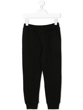 Moncler Kids rear logo track pants - Black