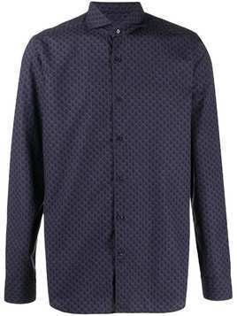 Al Duca D'Aosta 1902 patterned long-sleeved shirt - Blue