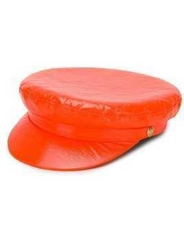 Manokhi vinyl biker hat - Orange