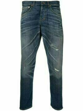 Prps distressed-finish straight-leg jeans - Blue