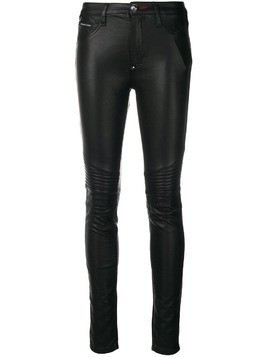 Philipp Plein faux leather skinny trousers - Black
