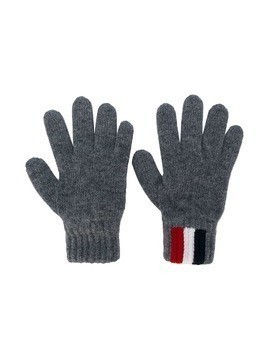 Moncler Kids logo gloves - Grey