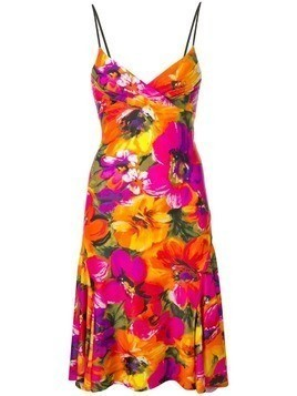 Amen floral print dress - Orange