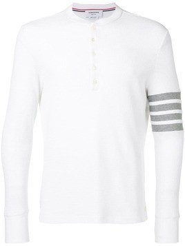 Thom Browne 4-bar Compact Waffle Henley - White