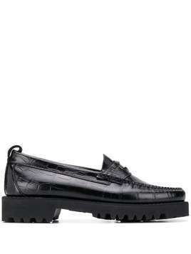Karl Lagerfeld Exotic chunky penny loafers - Black