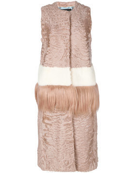 Cara Mila Dixie Mixed Fur Gilet - PINK