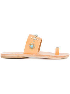 Calleen Cordero nickel and turquoise embellished sandals - Neutrals