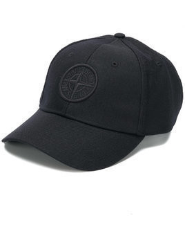 Stone Island embroidered logo baseball cap - Black