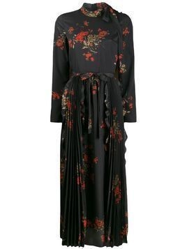 Red Valentino RED(V) floral print long dress - Black