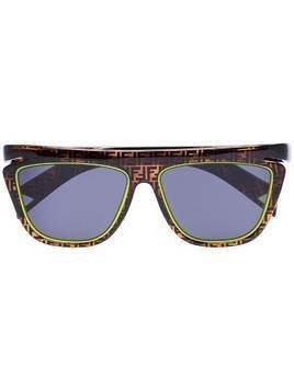 Fendi Neon detail FF logo sunglasses - Brown