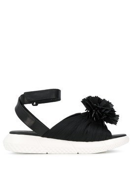 Elena Iachi zip embellished sandals - Black