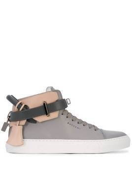 Buscemi high-top padlock sneakers - Grey