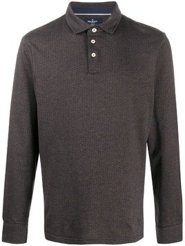Hackett long sleeved polo shirt - Grey