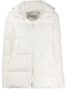 Herno padded hooded jacket - White