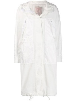Tela hooded parka coat - White