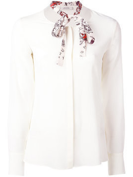 Dorothee Schumacher neck-tie blouse - White