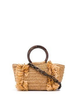 Carolina Santo Domingo fringe trim tote - NEUTRALS