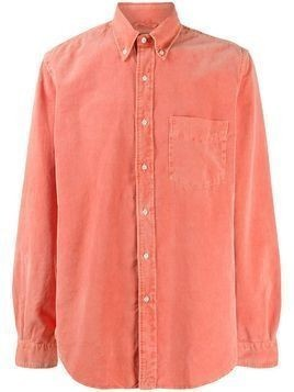 Aspesi corduroy button down shirt - ORANGE