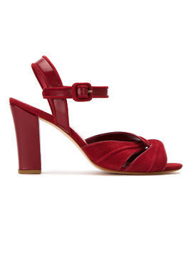 Sarah Chofakian suede sandals - Red