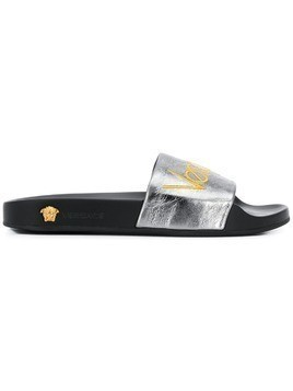Versace logo sliders - Grey