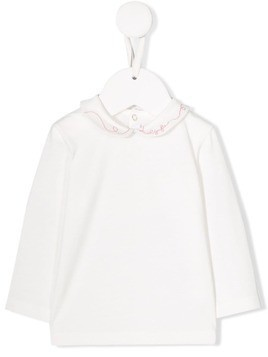 Il Gufo logo embroidery shirt - White