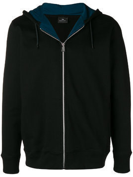 Ps By Paul Smith zipped hooded sweatshirt - Black
