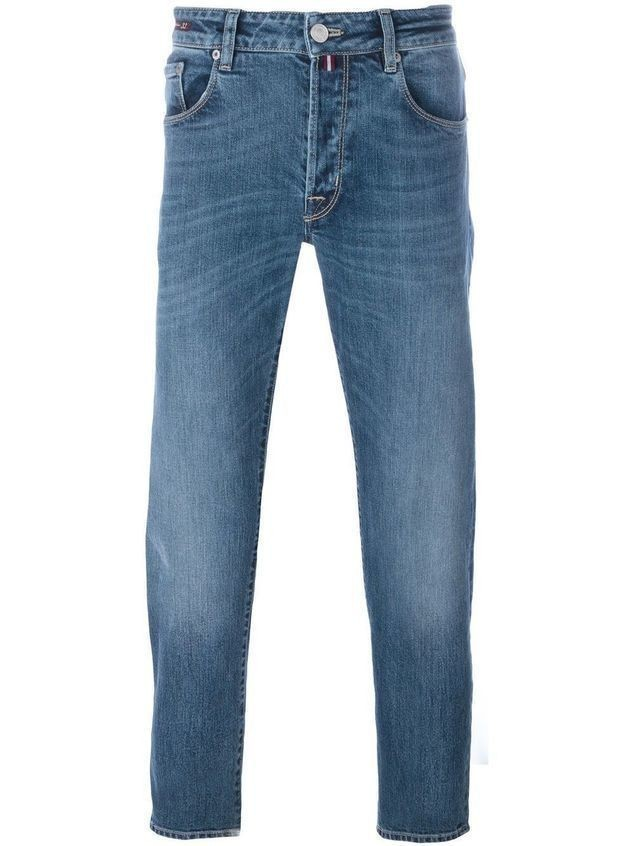 Pt05 medium wash straight jeans - Blue