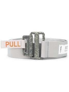 Heron Preston grosgrain tape belt - Grey