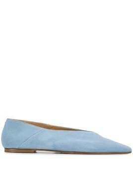 Aeyde pointed toe ballerinas - Blue