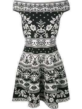 Alexander McQueen floral jacquard mini dress - Black