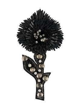 L'Autre Chose embellished flower brooch - Black