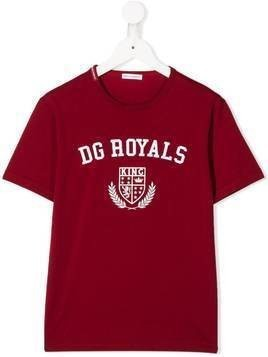 Dolce & Gabbana Kids DG Royals print T-shirt - Red