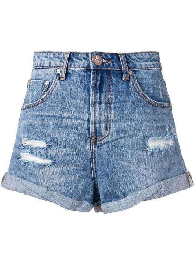 One Teaspoon denim shorts - Blue