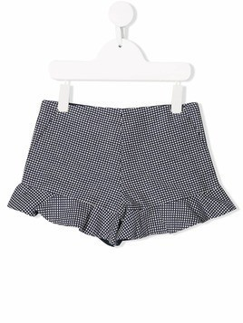 Hucklebones London checkered shorts - Blue