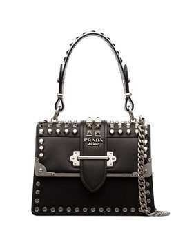 Prada Cahier studded tote bag - Black