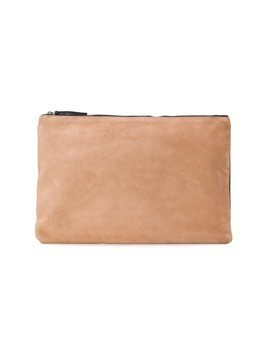 Ann Demeulemeester zip top clutch bag - Nude&Neutrals