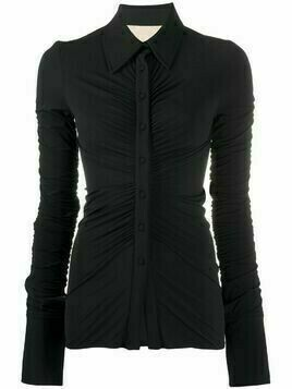 Ssheena smocked stretch shirt - Black