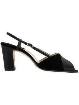 Salvatore Ferragamo Pre-Owned peep toe sandals - Black