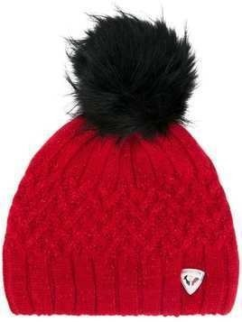 Rossignol Poly pompom-embellished beanie - Red